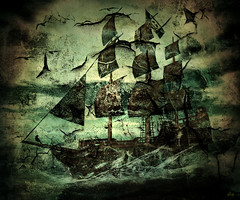 Ghost sHip (~Alia~) Tags: sky bird texture birds clouds lights boat ship ghost sl ciel secondlife topgun alia innamoramento slwindlight artistictreasurechest