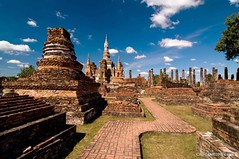 SukhoThai_1 (Aung@) Tags: world park new city trip heritage lens thailand site ancient nikon ruins holidays buddha year unesco tokina temples historical wat northern monuments 2009 sukhothai d300 aspherical 1224mmf4 atx124prodx 13thcenturyad kingramkhamhaeng