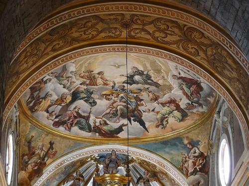 Pinturas del ábside central (s. XVIII)