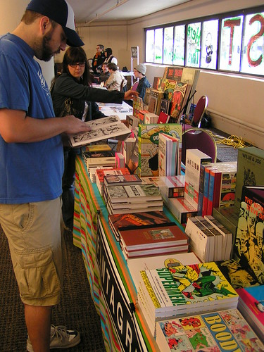 Fantagraphics at the 2009 Stumptown Comics Fest, Portland OR