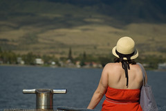 She Wore Red (nsjmetzger) Tags: red hat hawaii maui 2009challenge 2009challenge112