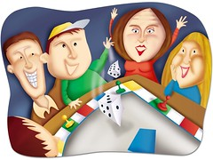 Family games (Michelle Hazelwood illustration)