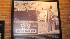 An old photo of the original Home Run Inn Pizza tavern and restaurant on West 31st Street in Chicago's Little Village neighborhood. Chicago Illinois.