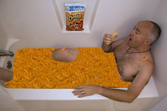 147/365 - No Better Way to Start the Day (HughesOnTheNet) Tags: selfportrait me brian bathtub cheetos 2009 tnw fgr 365days canoneos450d canonefs1855mmf3556is canoneosdigitalrebelxsi