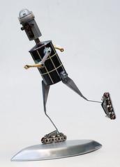 thermo roller robot (Lockwasher) Tags: sculpture robot originalart assemblage rollerblading tacomaartmuseum lockwasher rollerrobot metalurge