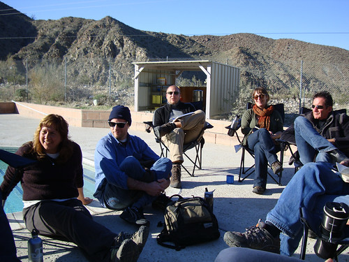 Luminous Green workshop in Palm Springs Desert. Marko Peljhan in director's seat.