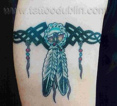 Indian Tribal Band Tattoo indian band feather tattoo