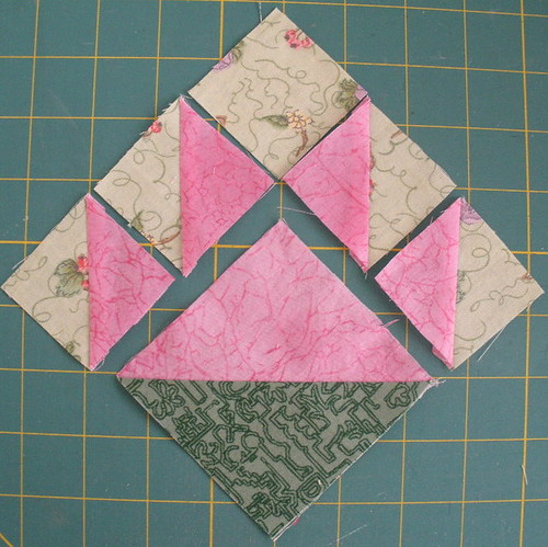 Layout the triangle squares