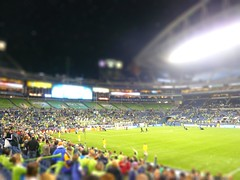 Goal for the Sounders FC! (sprizee) Tags: seattle soccer qwestfield futbol gol tiltshift sounders soundersfc