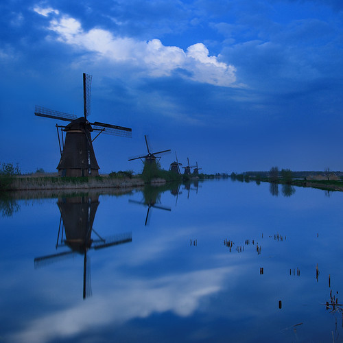 Kinderdijk Blue Hour