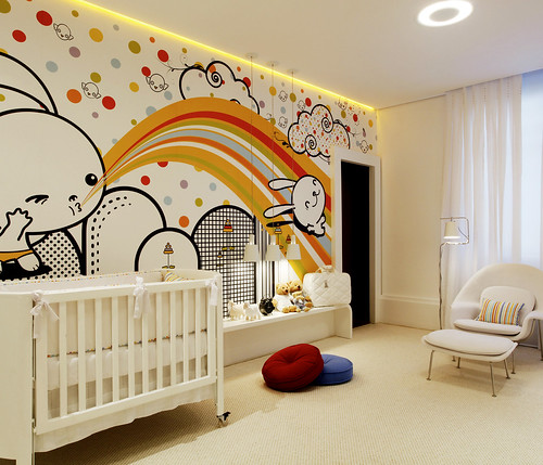 Wallpaper For Baby Room. Cute-aby-room-with-bunnies-on