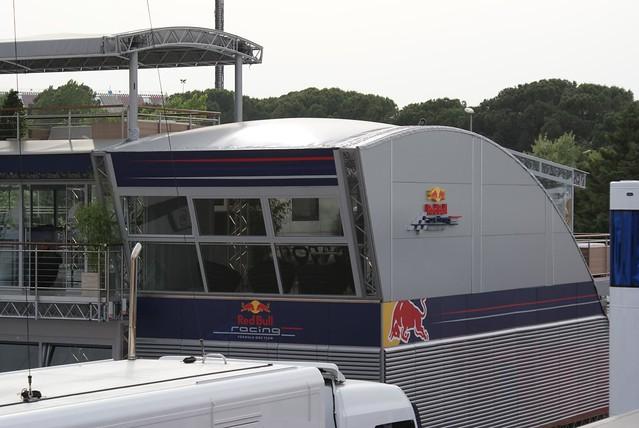 GP España 2009: Motorhome Red Bull