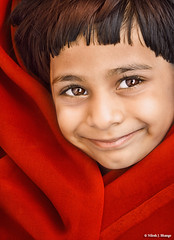 r e d (bnilesh) Tags: red portrait india smile fashion happy kid child candid soe mansi supershot mywinners abigfave platinumphoto anawesomeshot committeeofartists