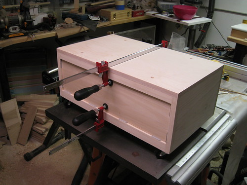 clamping drawer front to drawer while glue dries