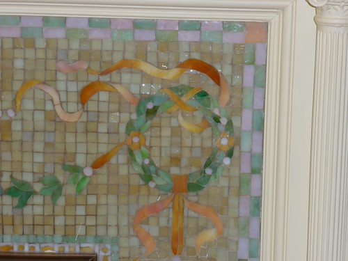 Detail of Tiffany Mosaic Fireplace