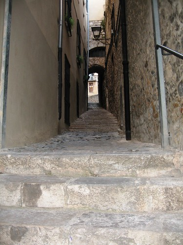 The Stairs of Barri Vell, Girona, Spain - 1