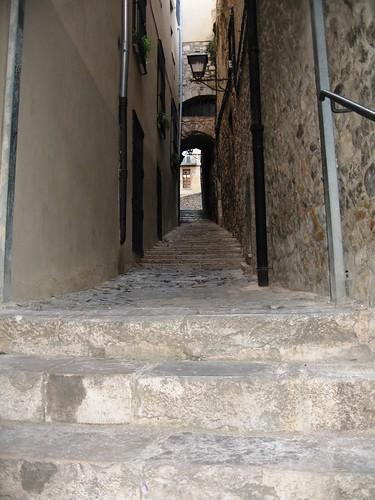 The Stairs of Barri Vell, Girona, Spain - 1