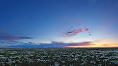 Pawnee Primrose Panorama (Fort Photo) Tags: pink flowers blue sunset sky panorama moon white nature field vertical clouds landscape evening flora nikon colorado purple dusk pano blossoms luna hour co wildflowers prairie blooms plains grassland 169 2009 grasslands blooming primrose neco d300 pawnee tokina1116