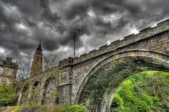 Belford Bridge (elementalPaul) Tags: bridge trees sky stone clouds scotland edinburgh pentax cloudy freehand hdr waterofleith photomatixpro 5xp  k10d pentaxk10d belfordhostel belfordbridge belfordchurch