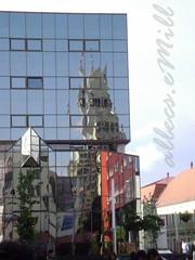 Reflections (allecs.emill) Tags: city shopping hall mare center romania primarie satu comercial bcr oglinda centru orasul somesu