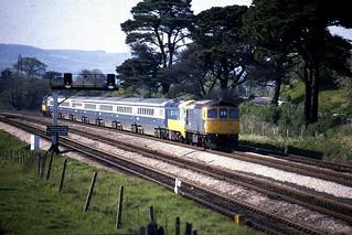 Class 33 33058  Newton Abbot 6/5/82