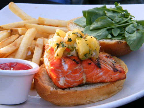 Salmon Burger @ Altitudes