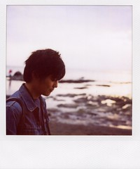 your song (mika-rin) Tags: holiday beach polaroid sx70 lotta toki onafineday
