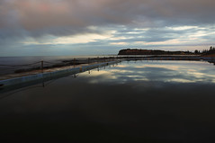 (Evan_Williams) Tags: ocean blue sky white black reflection beach water pool clouds grey nikon rocks sydney vr d300 collaroy 18200mm