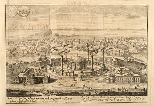 006- Templo de Ninive-Entwurf einer historischen Architektur 1721- © Universitätsbibliothek Heidelberg