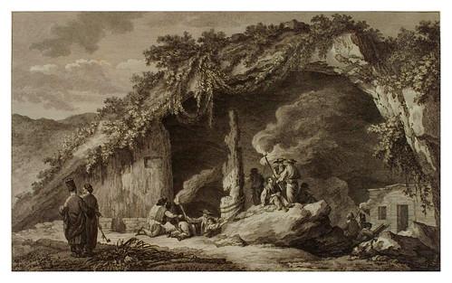 002- Entrada de la gruta de Antiparos-Voyage pittoresque de la Grèce 1782