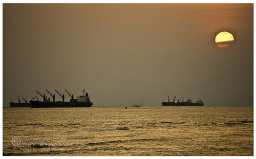 Sunset at Potenga beach - Chittagong, Bangladesh