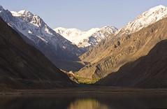 Satpara Lake (bag_lady) Tags: pakistan lake snow mountains water landscape ngc scenic skardu baltistan bluelist satparalake concordians earthasia worldtrekker