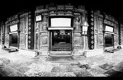 Xian Mosque (davidfattibene) Tags: china bw temple mosque panoramic xian bncitt