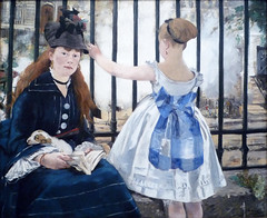Édouard Manet's The Railway, oil on canvas, 1872-73