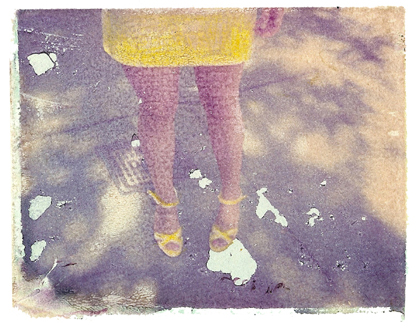 yellow shoes she hit pause studio