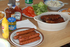 Uncle Dan's delicious spread