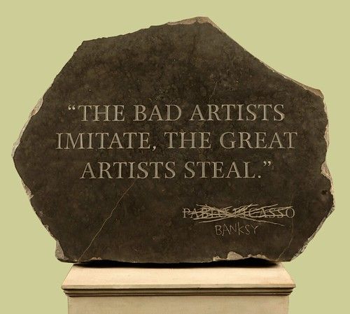 The Bad Artists Imitate, Banksy Steals by dullhunk