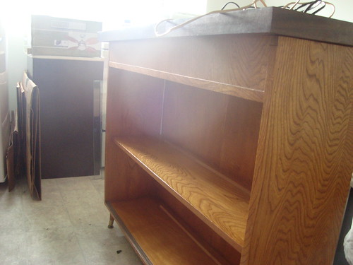 mid-century glass cabinet i got off craigslist