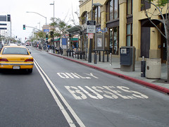 Bus-only lane (Complete Streets) Tags: california urban publictransportation santamonica transit buslane busonlylane cacompletestreets