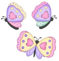 J pensou.... estas borboletinhas num lenol de beb  ou em camisetinha de menina.... (soniapatch) Tags:
