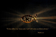 ...I Will Make You Fishers of Men (honey 77) Tags: light fish fishermen god jesus lord christian bible christianity inspirational fishers scriptures disciple fishpin matthew419 mark117 inspiks|inspirationalpictures