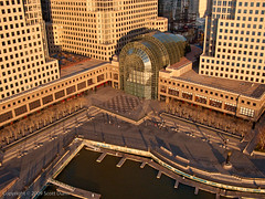 Winter Garden Atrium at the World Financial Center (scottdunn) Tags: world kite newyork skyscraper photography manhattan center aerial wintergarden getty gothamist kap atrium financial groundzero aerialphotography worldfinancialcenter kiteaerialphotography northcove scottdunn fotografiaaéreacompipa photosexplore photoparcerfvolant nortcovemarina fesseldrachenluftbildfotografie