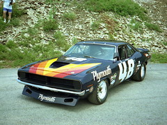Dan Gurney's 1970 Plymouth 'Cuda AAR (splattergraphics) Tags: racecar plymouth 1970 mopar cuda carlisle barracuda carshow aar transam dangurney ebody chryslersatcarlisle carlisleallchryslernationals