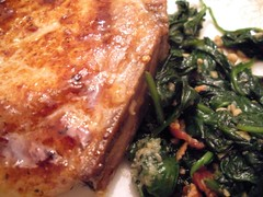Cidery Pork Chop & Spinach