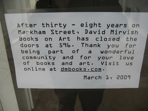Closure of David Mirvish Books (1)