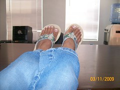More Feet (claudias_sexy_latina_feet) Tags: feet fetish toes highheels legs soles footfetish shoefetish longtoes sexyfeet thongsandals latinafeet toespread feetinjeans toeflex