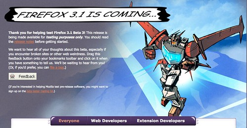 Firefox 3.1 is coming!