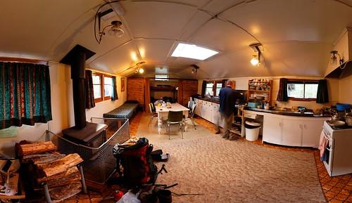 20090312-38-Hobart Walking Club hut interior pano