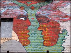 face to face (sulamith.sallmann) Tags: portrait streetart eye art face wall deutschland see gesicht view wand kunst protest scene portrt leipzig auge blick mauer subculture sehen subkultur jugendkultur antlitz urbanekunst strasenkunst sulamithsallmann angesicht youthcultur st0