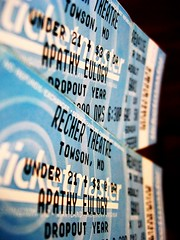 so lets get down and dirty (amandakiedis) Tags: show blue music tickets concert theater theatre live year band maryland ticket apathy eulogy ticketmaster towson dropout recher theapathyeulogy dropoutyear